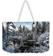 First Snow Weekender Tote Bag
