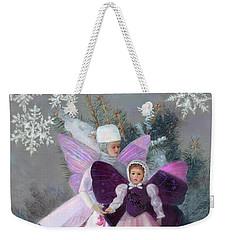 Weekender Tote Bag featuring the painting First Snow by Nancy Lee Moran
