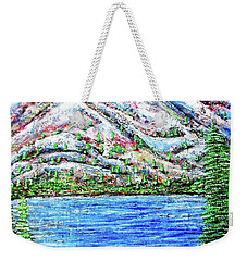 Weekender Tote Bag featuring the painting First Snow by Viktor Lazarev