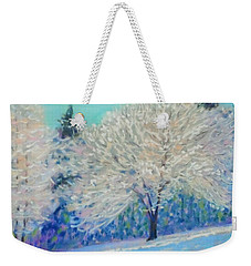First Snowfall  Weekender Tote Bag by Rae  Smith PAC