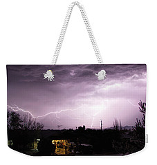 First Summer Storm Weekender Tote Bag by Charles Ables