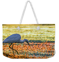 Weekender Tote Bag featuring the photograph First Sun Rays by Jivko Nakev