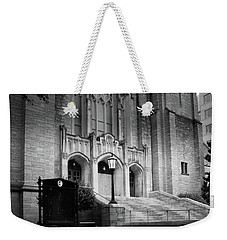 First United Methodist Church Charlotte In Black And White Weekender Tote Bag
