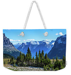 Weekender Tote Bag featuring the photograph First Winter Snow In Glacier by Yeates Photography