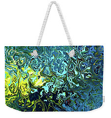 Fish Abstract Art Weekender Tote Bag by Annie Zeno