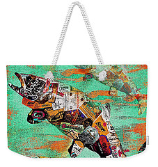 Fish And Bourbon Weekender Tote Bag