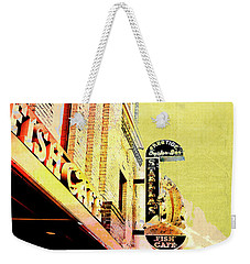 Weekender Tote Bag featuring the digital art Fish Cafe by Susan Stone