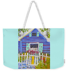 Fish Camp Cottage Weekender Tote Bag