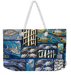 Fish Collage Weekender Tote Bag