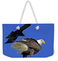 Fish Crow Dive Bombs Eagle Weekender Tote Bag