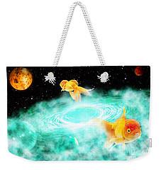 Weekender Tote Bag featuring the digital art Zen Fish Dream by Olga Hamilton