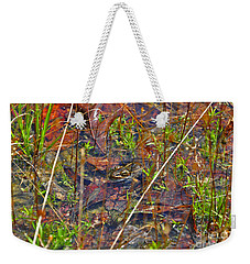 Weekender Tote Bag featuring the photograph Fish Faces Frog by Al Powell Photography USA