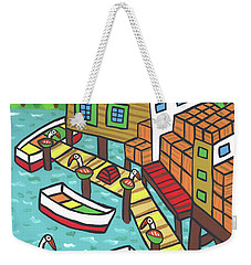 Fish House-cedar Key Weekender Tote Bag