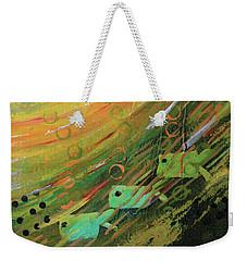 Fish In A Green Sea Weekender Tote Bag