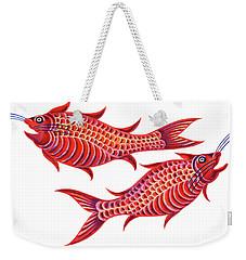 Fish Pisces Weekender Tote Bag by Jane Tattersfield