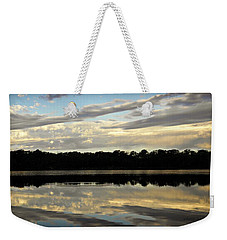Weekender Tote Bag featuring the photograph Fish Ring by Chris Berry