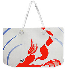 Fish Swish Weekender Tote Bag