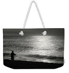 Fisherman At The Beach Weekender Tote Bag by Paul Seymour