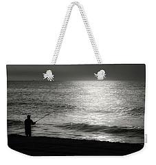 Fisherman At The Beach Weekender Tote Bag