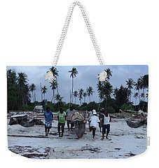 Fisherman Heading In From Their Days Catch At Sea With A Wooden Dhow Weekender Tote Bag