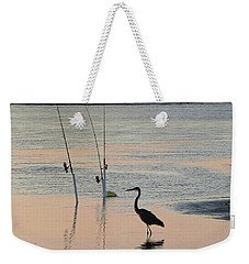 Fisherman Heron Weekender Tote Bag by Deborah Smith