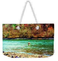 Weekender Tote Bag featuring the photograph Fisherman Hot Springs Ar In Oil by Diana Mary Sharpton