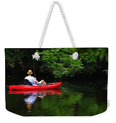 Fisherman On Lady Bird Lake - Digitalart Weekender Tote Bag