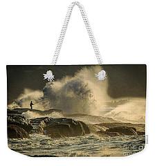 Fisherman Splash Weekender Tote Bag