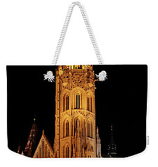 Weekender Tote Bag featuring the digital art  Fishermans Bastion - Budapest by Pat Speirs