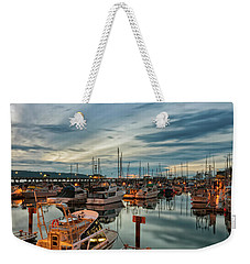 Weekender Tote Bag featuring the photograph Fishermans Wharf by Randy Hall