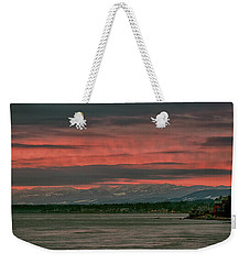 Weekender Tote Bag featuring the photograph Fishermans Wharf Sunrise by Randy Hall