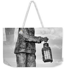Weekender Tote Bag featuring the photograph Fishermen - Jersey Shore by Angie Tirado