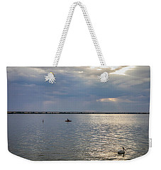 Weekender Tote Bag featuring the photograph Fishermens Morning by James BO Insogna