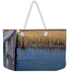 Fishin' Lines Weekender Tote Bag by Kay Lovingood