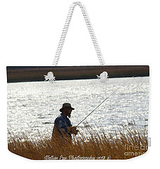 Fishin Weekender Tote Bag