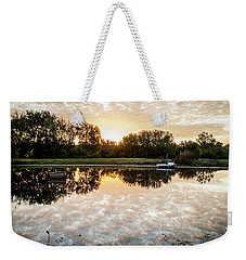 Fishing At Dawn Weekender Tote Bag