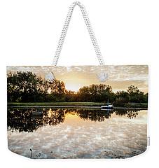 Fishing At Dawn Weekender Tote Bag