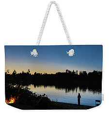 Fishing At Dusk Weekender Tote Bag