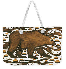 Fishing Bear Weekender Tote Bag