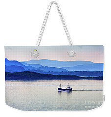 Fishing Boat At Dawn Weekender Tote Bag