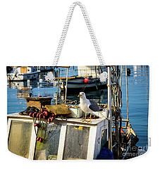 Fishing Boat Captain Seagull - Rovinj, Croatia Weekender Tote Bag