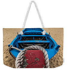 Little Blue Fishing Boat Weekender Tote Bag