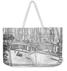 Fishing Boat Sketch Weekender Tote Bag by Richard Farrington