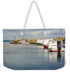 Fishing Boats At Feltzen South Weekender Tote Bag by Ken Morris