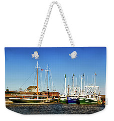 Fishing Boats In Cape May Harbor Weekender Tote Bag