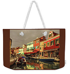 Fishing Boats In Colorful Burano Weekender Tote Bag