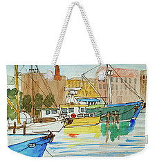 Fishing Boats In Hobart's Victoria Dock Weekender Tote Bag