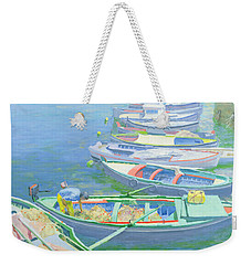 Fishing Boats Weekender Tote Bag by William Ireland