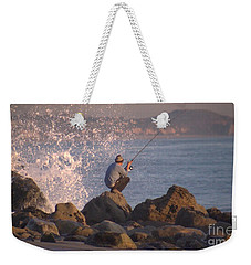 Weekender Tote Bag featuring the photograph Fishing by Chris Tarpening