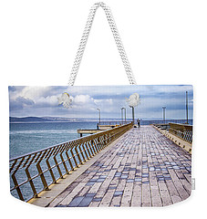 Weekender Tote Bag featuring the photograph Fishing Day by Perry Webster